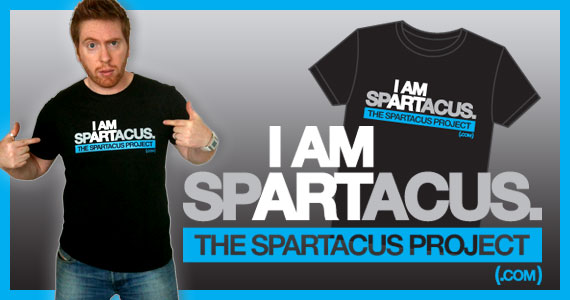 I AM SPARTACUS 1st T-shirt produced