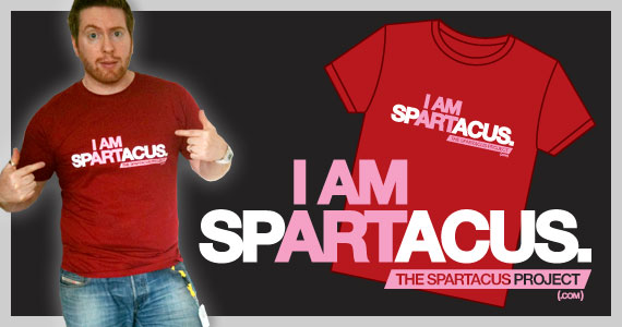 "Red ""I AM SPARTACUS"" T-shirt"
